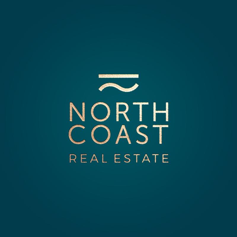 north coast real estate logo mockup