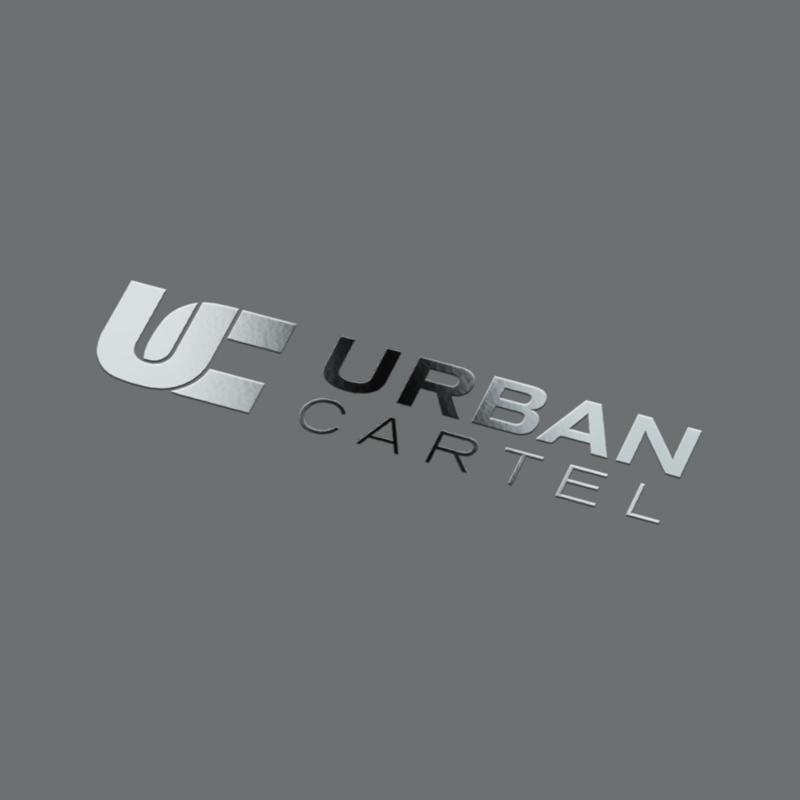 urban cartel logo mockup