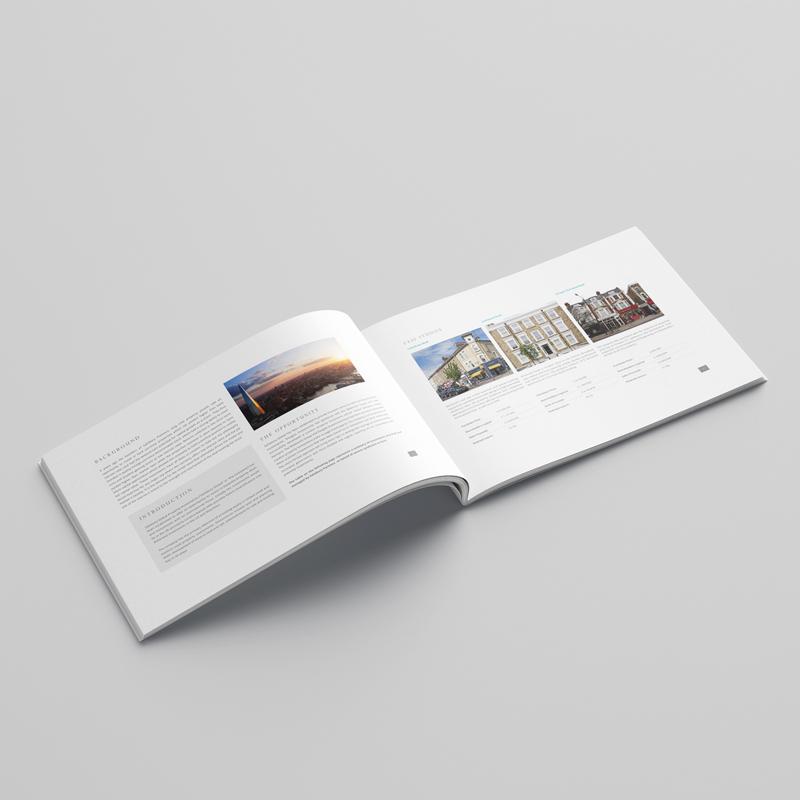 salisbury global property investments brochure design inside spread 1