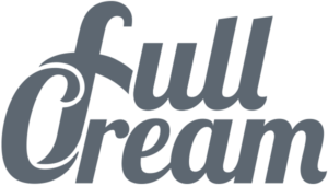 full cream footer logo