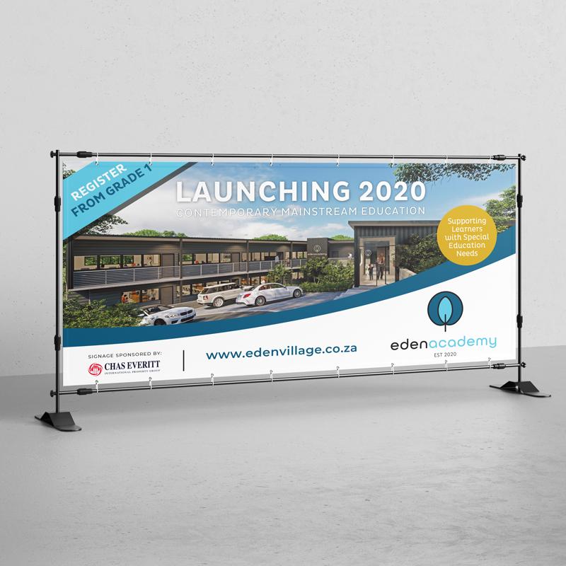 eden academy outdoor billboard design