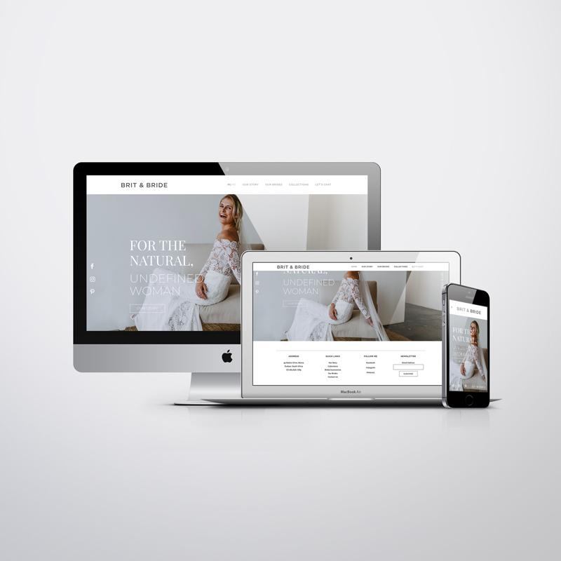 brit & bride custom website