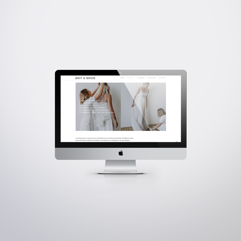 brit & bride custom website 3